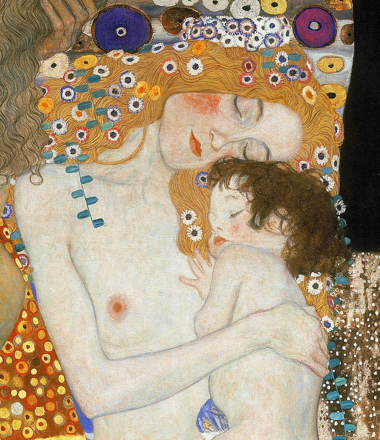 The Three Ages of Woman (detail), by Gustav Klimt, 1905. Galleria Nazionale d'Arte Moderna, Rome, Italy.