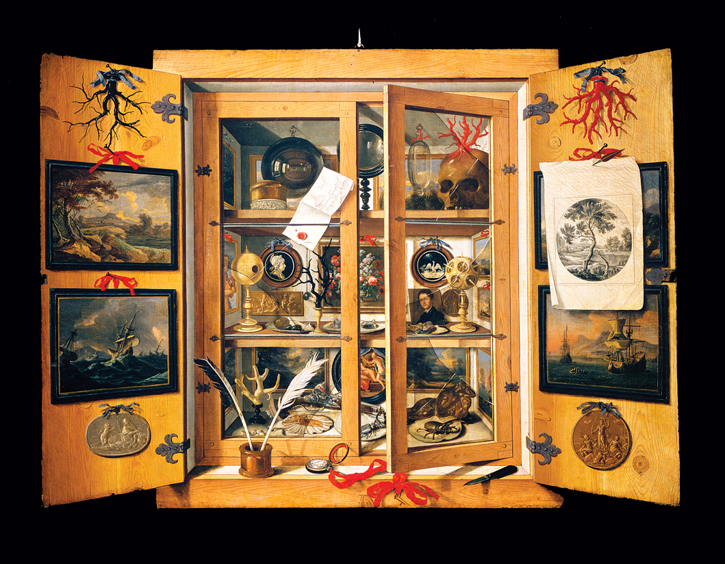 Cabinet of Curiosities, by Domenico Remps, c. 1690. Museo dell'Opificio delle Pietre Dure, Florence, Italy.