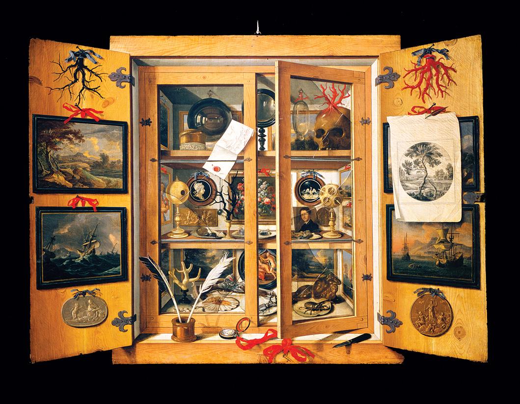 Cabinet of Curiosities, by Domenico Remps, c. 1690. Museo dell'Opificio delle Pietre Dure, Florence, Italy.