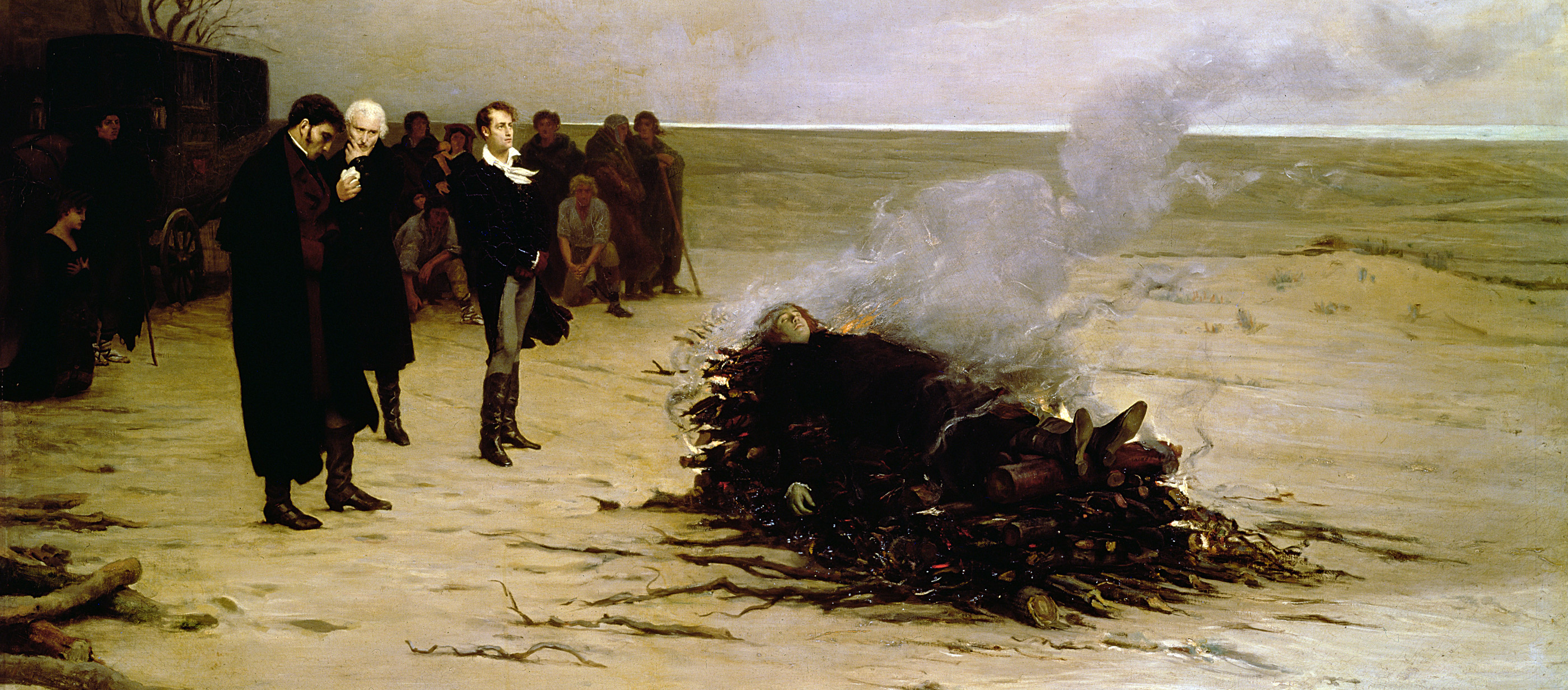 The Funeral of Shelley, by Louis-Edouard Fournier, 1889. Walker Art Gallery, Liverpool, England.