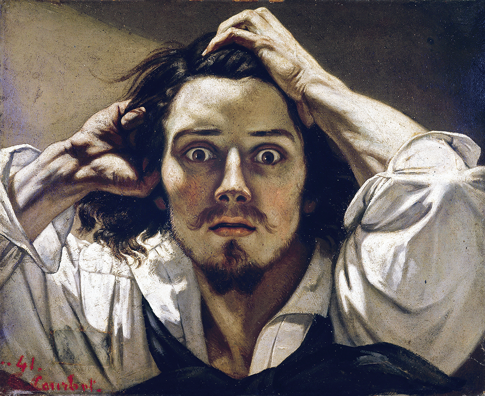 The Desperate Man, self-portrait by Gustave Courbet, 1843–45. © Luisa Ricciarini / Leemage / Bridgeman Images.