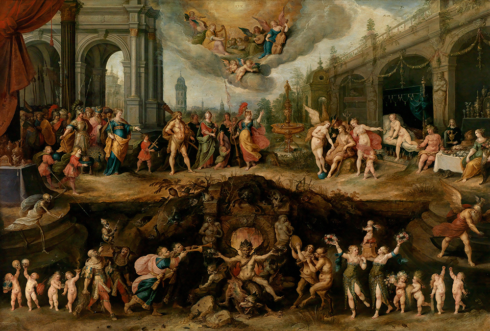 Mankind's Eternal Dilemma: The Choice Between Virtue and Vice, by Frans Francken the Younger, 1633.
