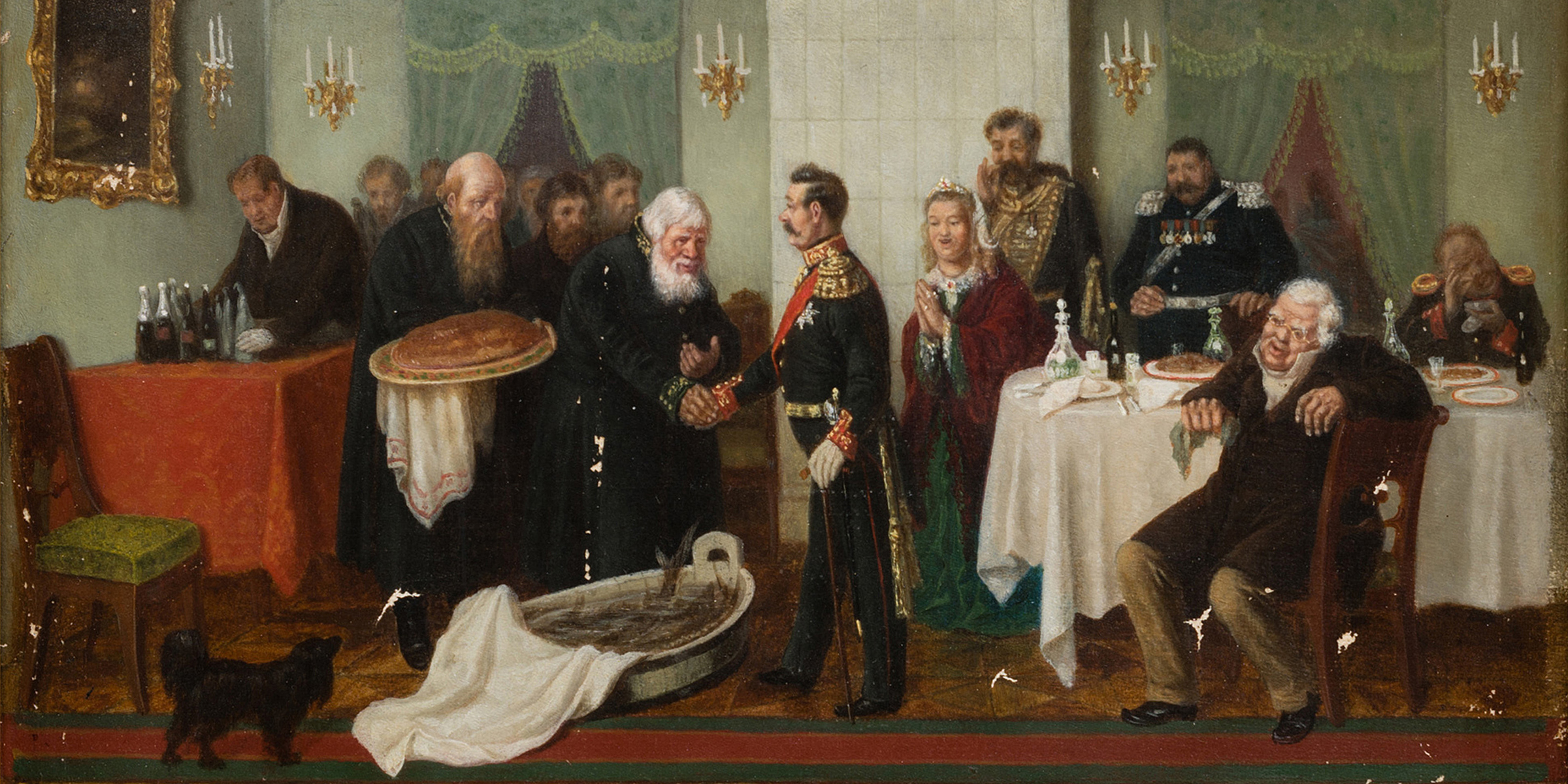 Welcoming the Official (detail), by Leonid Solomatkin, 1867. © HIP / Art Resource, NY.