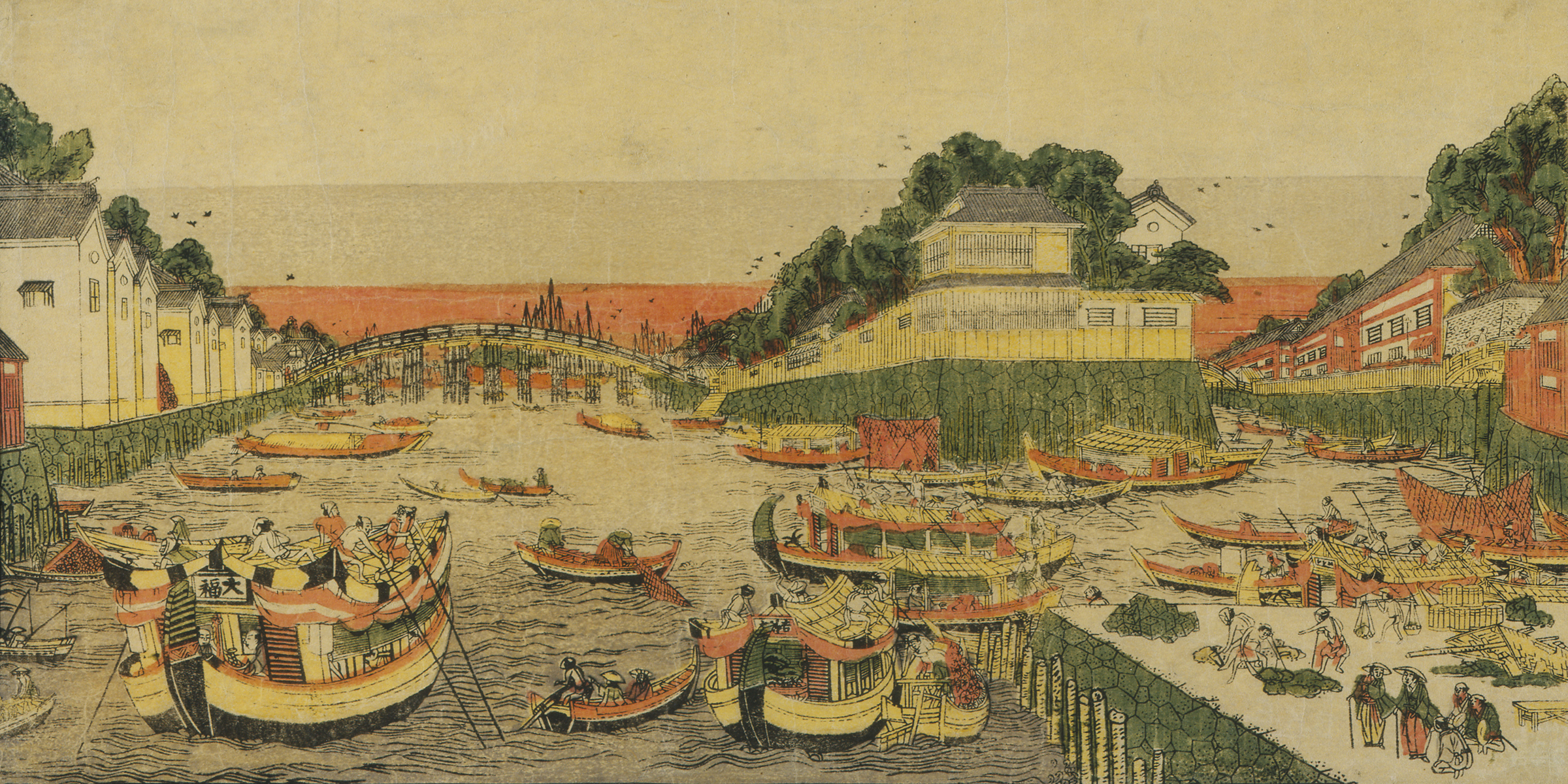 Boats on a River, Being Loaded and Unloaded, by Toyoharu, eighteenth century. © Newark Museum / Art Resource, NY.