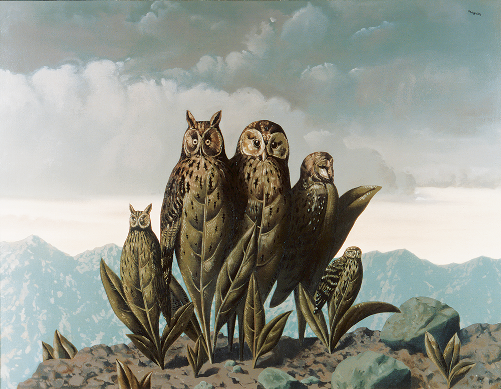 The Companions of Fear, by René Magritte, 1942. © Art Resource, NY © ARS, NYC.