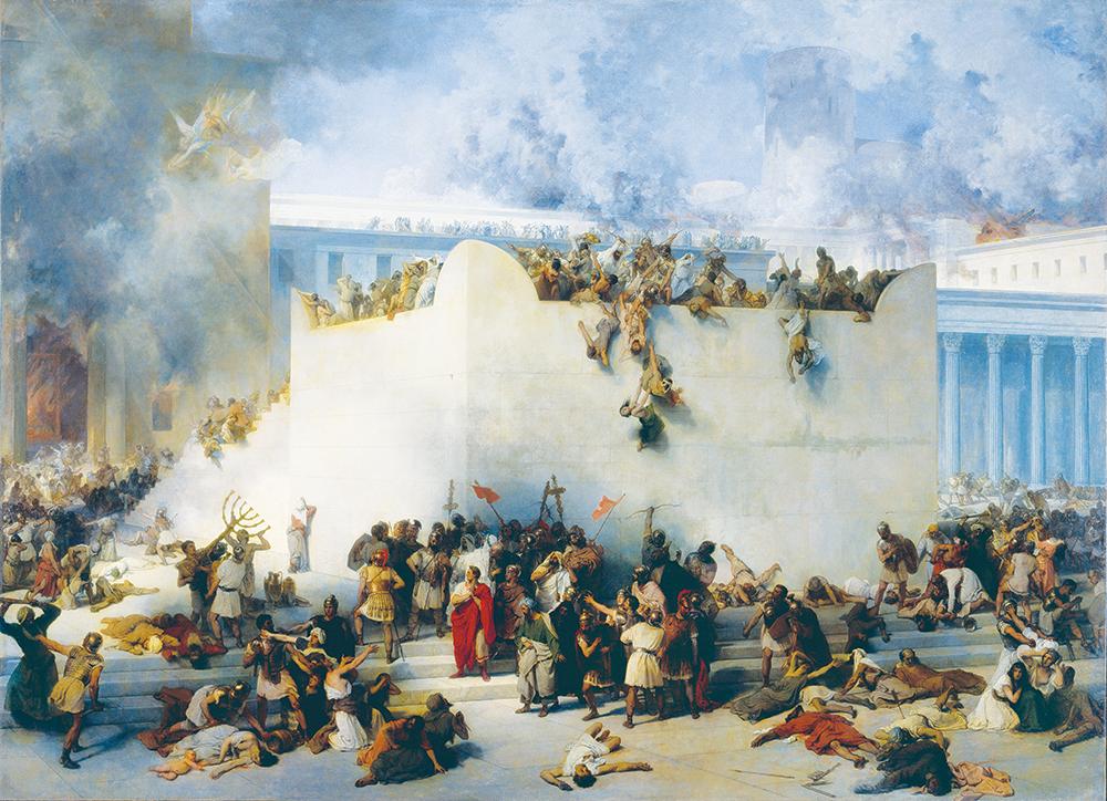 The Destruction of the Temple of Jerusalem, by Francisco Hayez, 1867. © Cameraphoto Arte, Venice/Art Resource.