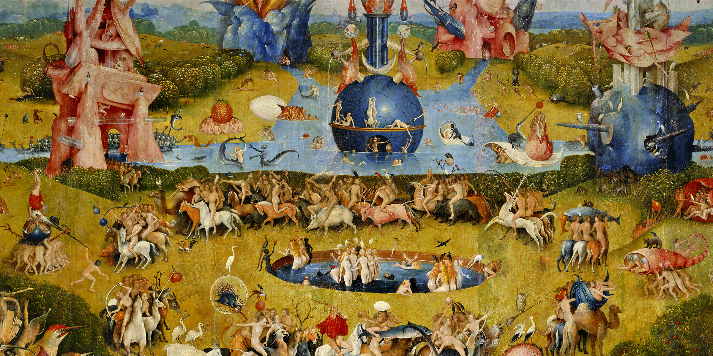 Garden of Earthly Delights (detail), by Hieronymus Bosch, c. 1500. © Erich Lessing/Art Resource, NY.