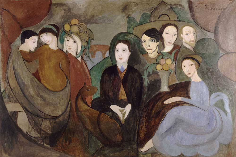 Guillaume Apollinaire and His Friends, by Marie Laurencin, 1909.