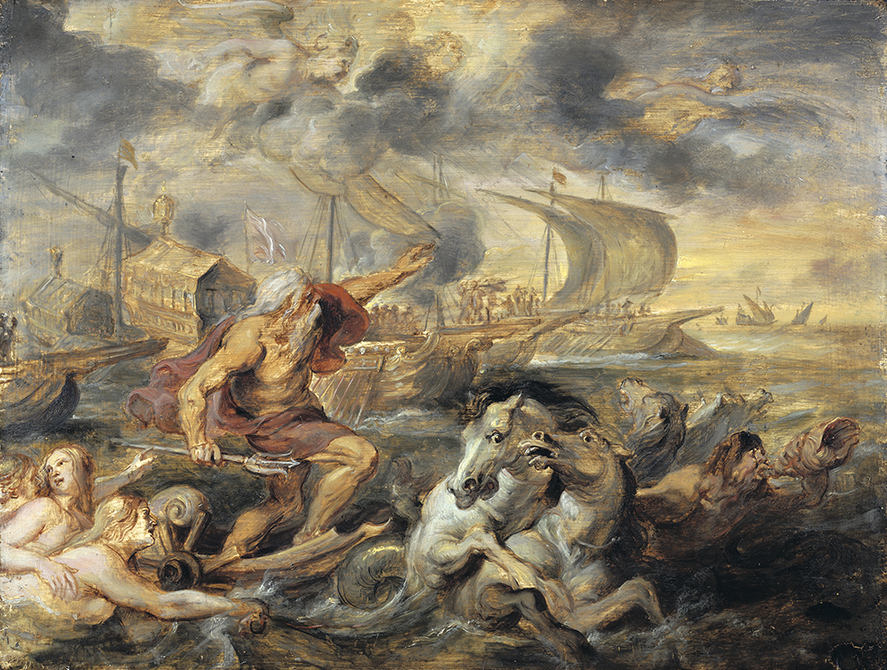 Neptune Calming the Tempest, by Peter Paul Rubens, 1635. © Harvard Art Museum/Art Resource, NY.