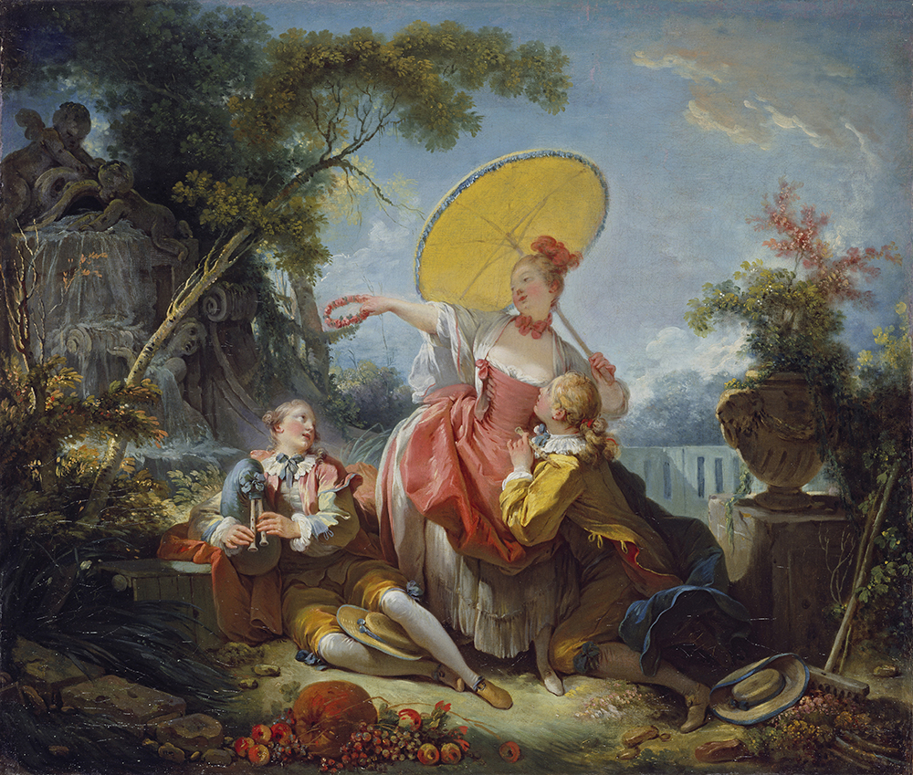The Musical Contest, by Jean-Honoré Fragonard, c. 1755. © By kind permission of the Trustees of the Wallace Collection, London / Art Resource, NY.