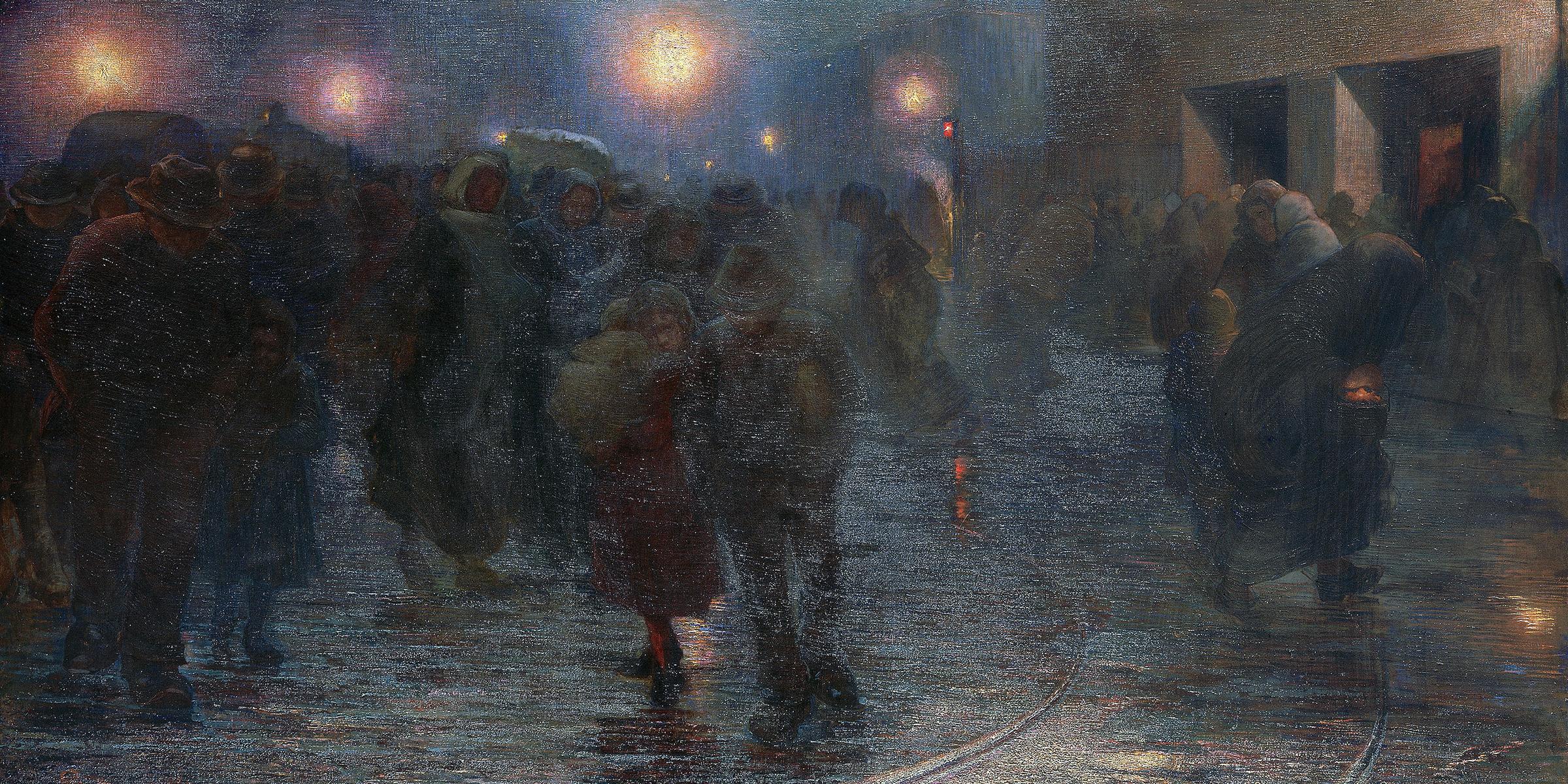 The Worker's Dawn, by Giovanni Sottocornola, 1897. © Alinari/Art Resource, NY.