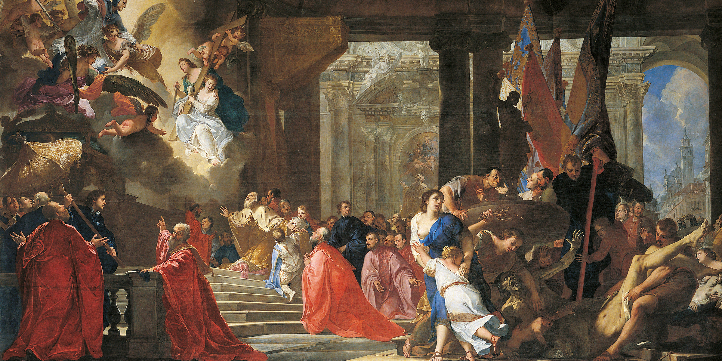 The Doge Praying for the End of the Plague, by Antonio Bellucci, c. 1691