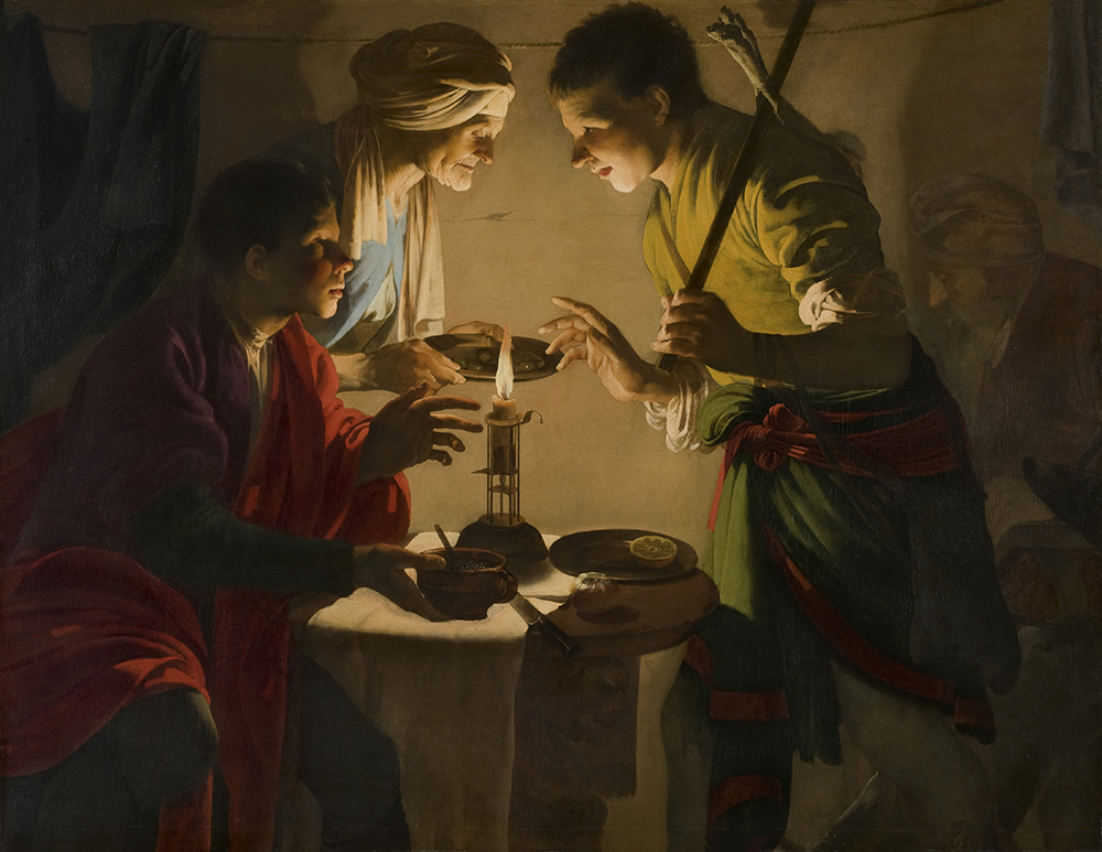 Esau Selling His Birthright, by Hendrick Terbrugghen, c. 1627. © Museo Nacional Thyssen-Bornemisza / Scala / Art Resource, NY.