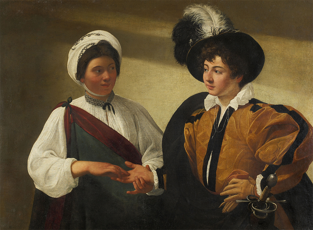 The Fortune Teller, by Caravaggio, c. 1595. © Musée du Louvre, Dist. RMN-Grand Palais/Art Resource, NY.