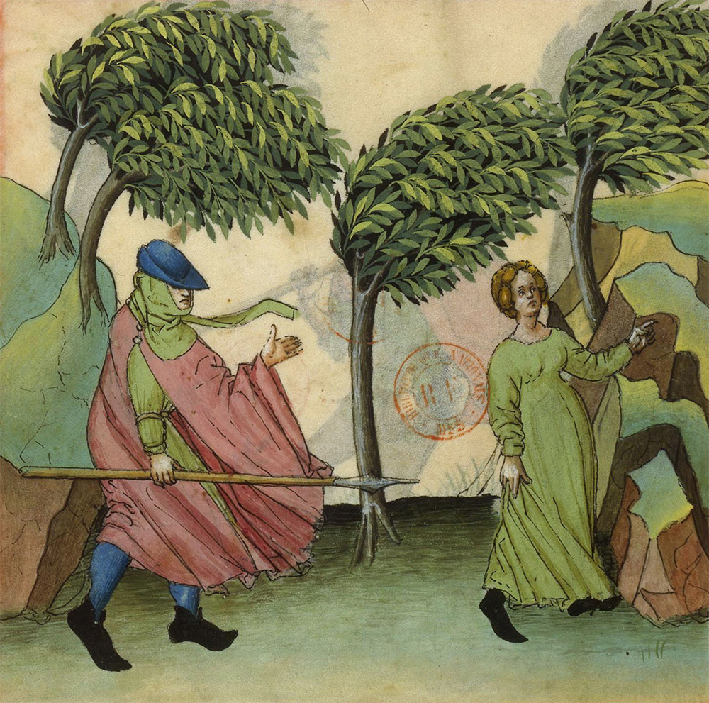 Northern winds, miniature from a c. 1450 edition of Ibn Butlan's Tables of Health. © BnF, Dist. RMN-Grand Palais/Art Resource, NY.