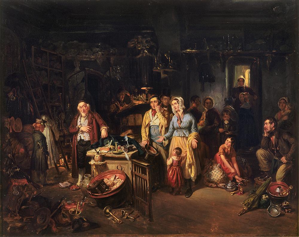 The Pawn Shop, by August von Rentzell, 1842. © bpk Bildagentur/Deutsches Historiches Museum, Berlin/Art Resource, NY.