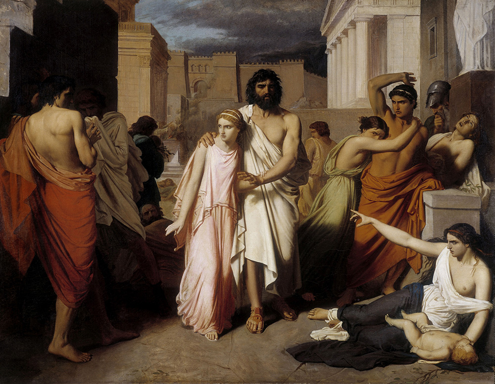 Oedipus and Antigone, by Charles-François Jalabert, 1843