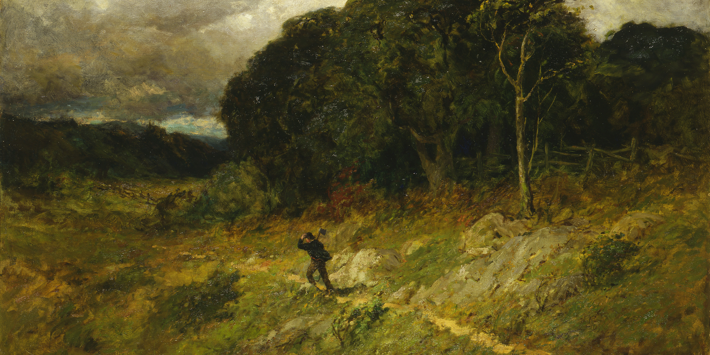 Approaching Storm (detail), by Edward Mitchell Bannister, 1886. © Smithsonian American Art Museum, Washington, DC/Art Resource, NY.