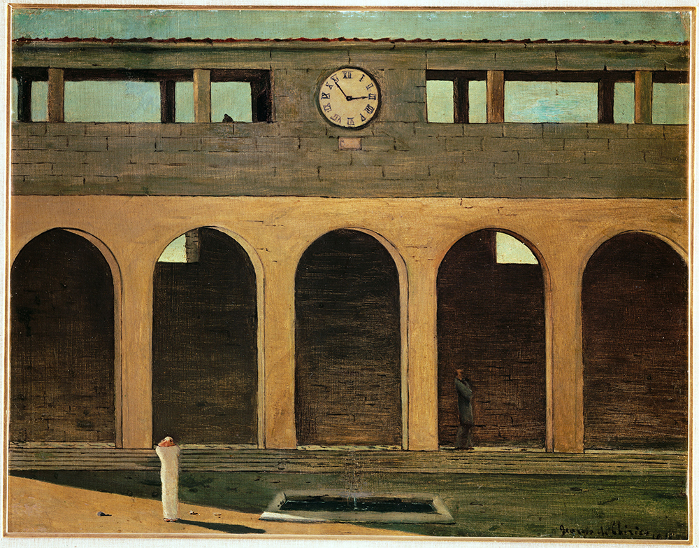 Enigma of the Hour, by Giorgio de Chirico, 1912. © Scala / Art Resource, NY. © 2019 Artists Rights Society (ARS), New York.