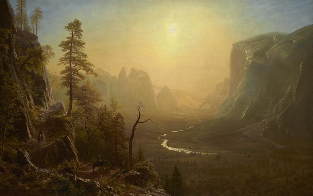 Yosemite Valley, Glacier Point Trail, by Albert Bierstadt, c. 1873.