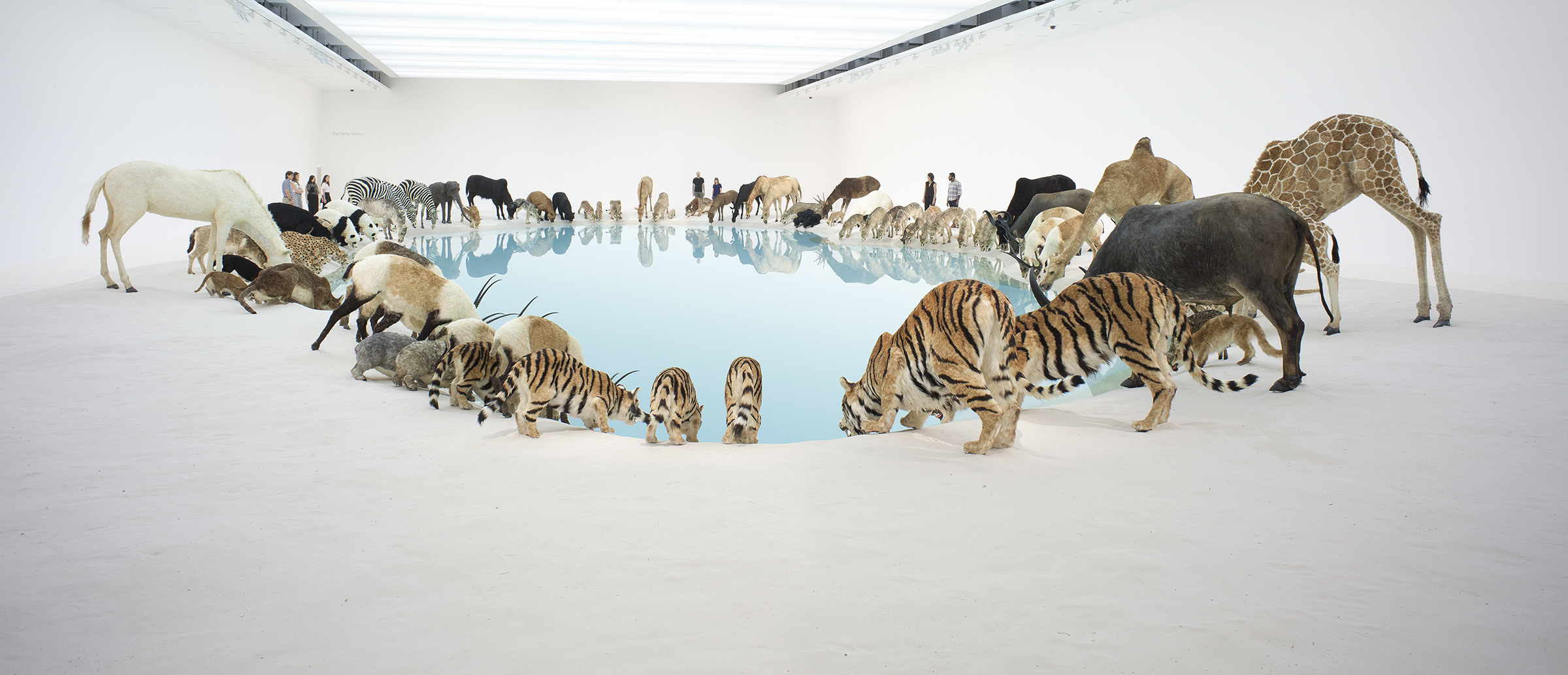 Heritage, by Cai Guo-Qiang, 2013. Ninety-nine life-size polystyrene, gauze, resin, and hide replicas of animals; installed dimensions variable. © Cai Guo-Qiang, courtesy Queensland Art Gallery | Gallery of Modern Art. Commissioned 2013 with funds from the
