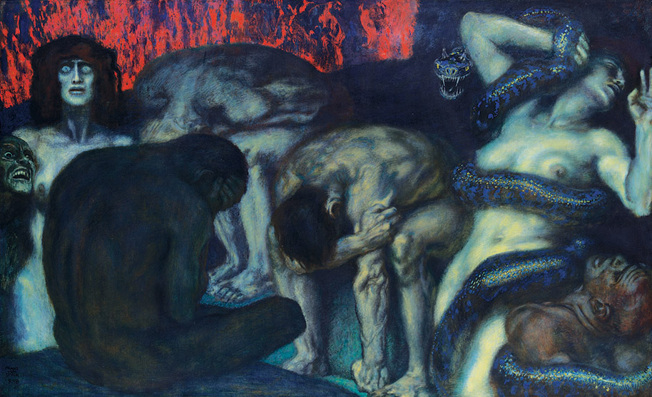Inferno, by Franz von Stuck, 1908.