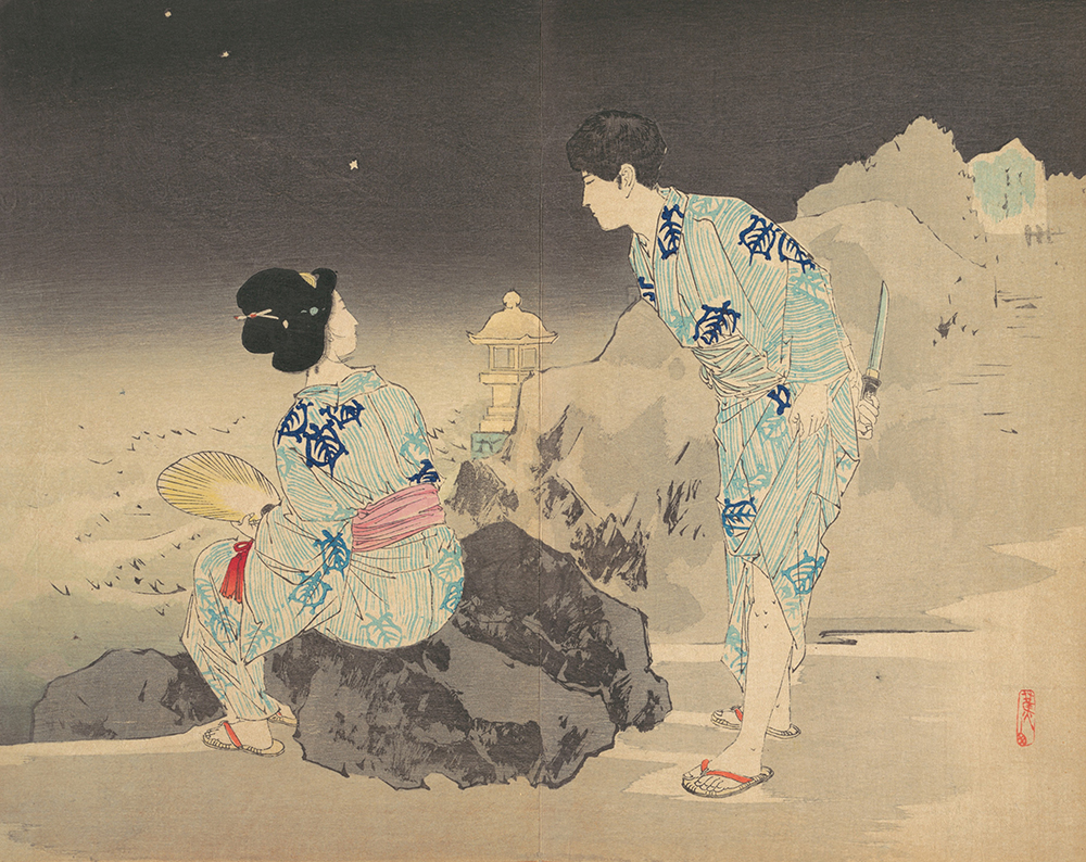 Watching Fireflies on a Summer Night, by Mishima Shōsō, late nineteenth or early twentieth century. The Metropolitan Museum of Art, gift of Donald Keene, in honor of Julia Meech-Pekarik, 1986.
