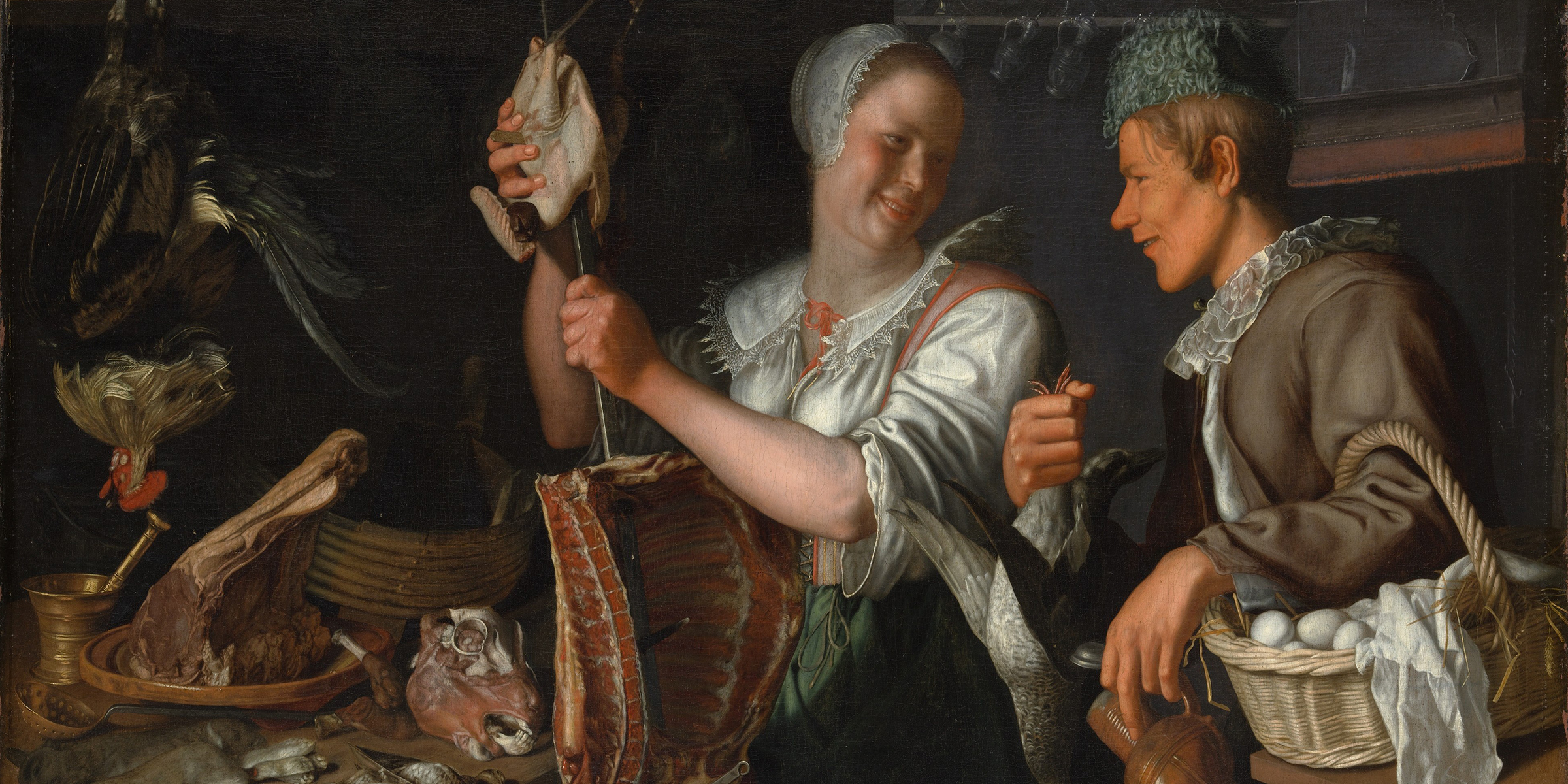 Kitchen Scene (detail), by Peter Wtewael, c. 1620. The Metropolitan Museum of Art, Rogers Fund, 1906.