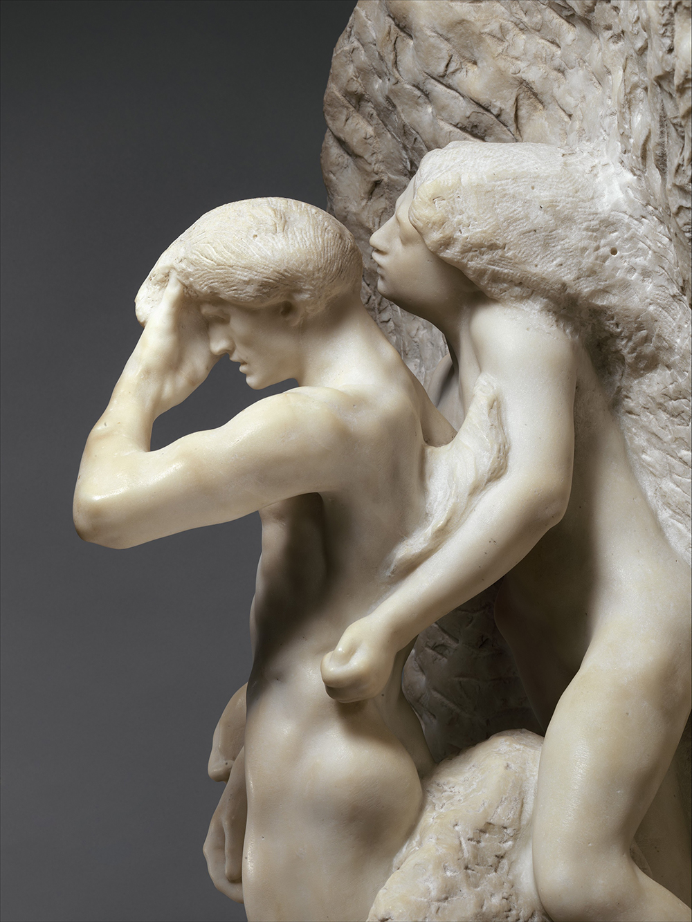 Orpheus and Eurydice (detail), by Augustus Rodin, The Metropolitan Museum of Art, Gift of Thomas F. Ryan, 1910.