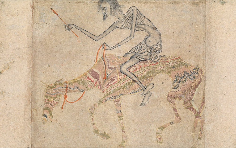 Emaciated Horse and Rider, India, c. 1625.