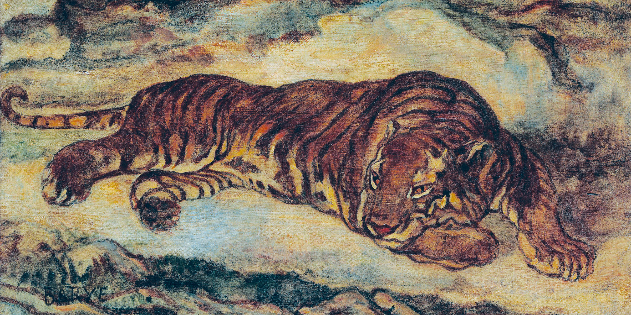 Tiger in Repose, by Antoine-Louis Barye, c. 1860.