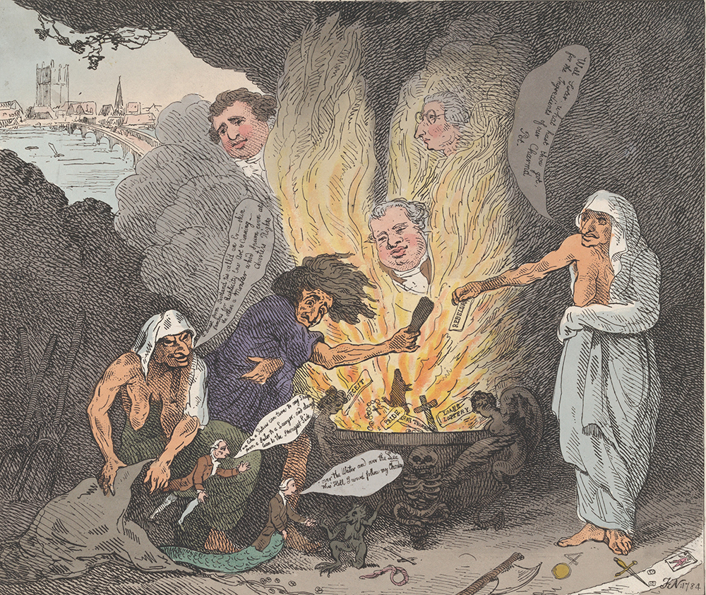 The Pit of Acheron, or The Birth of the Plagues of England, by Thomas Rowlandson, 1784