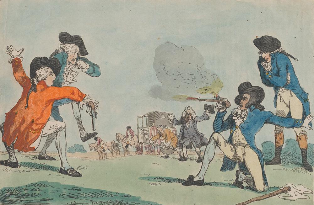 False Courage, by Thomas Rowlandson, 1788. The Metropolitan Museum of Art, The Elisha Whittelsey Collection, the Elisha Whittelsey Fund, 1959.
