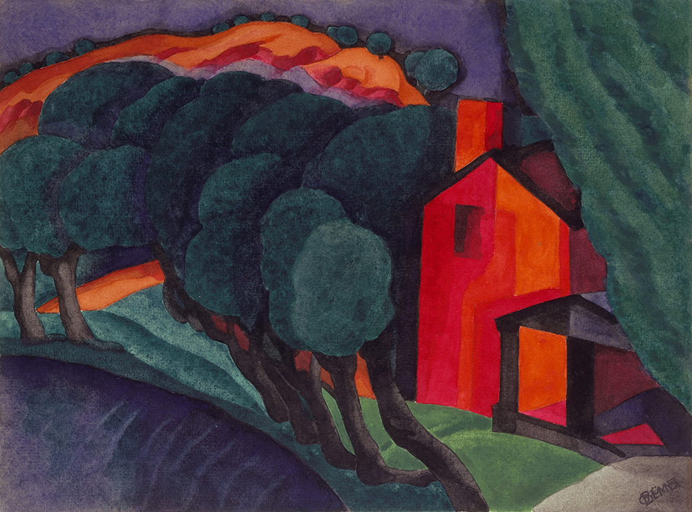 Glowing Night, by Oscar Bluemner, 1924. The Metropolitan Museum of Art, bequest of Charles F. Iklé, 1963.