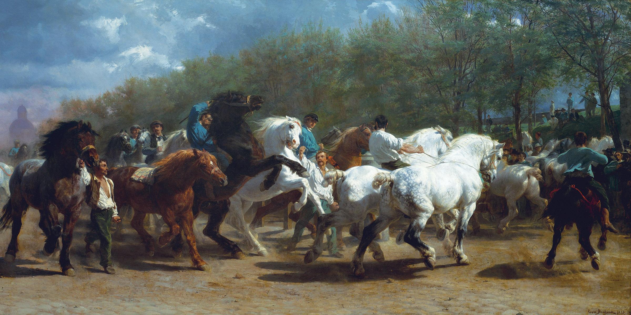 The Horse Fair, by Rosa Bonheur, 1852–55.
