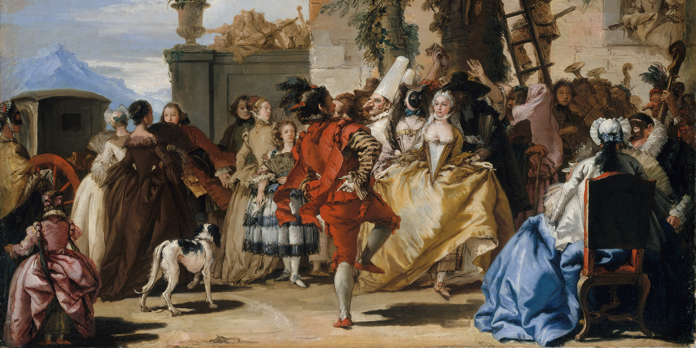 A Dance in the Country, by Giovanni Domenico Tiepolo, c. 1755.