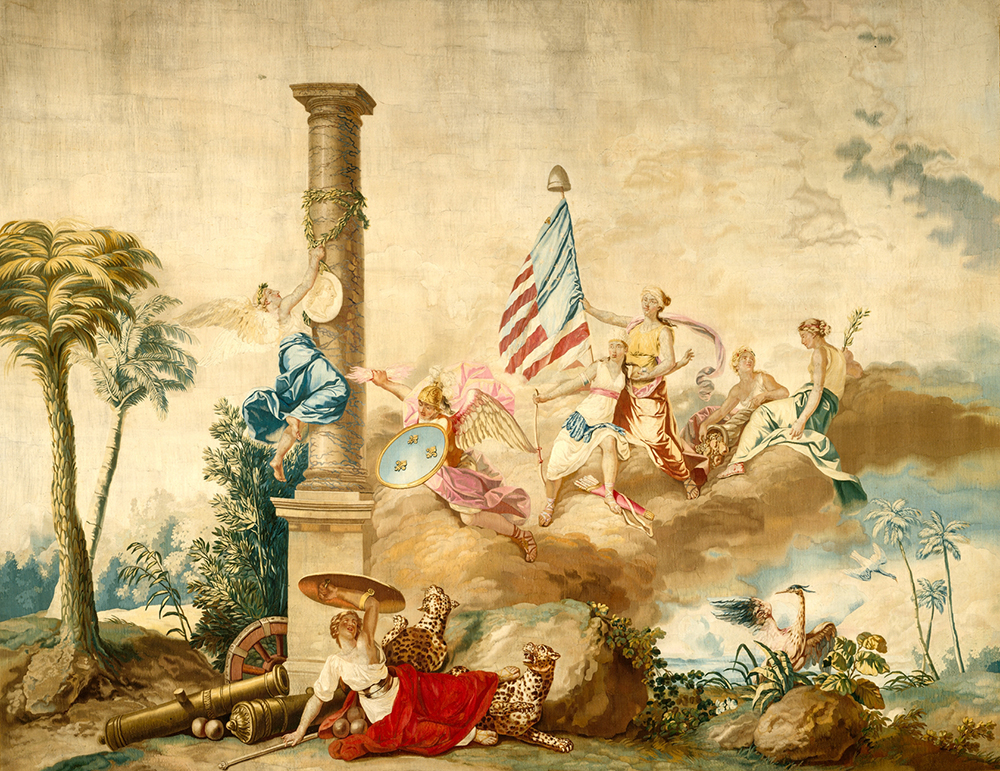 America, from the series The Four Continents, by Jean Jacques François Le Barbier, c. 1790.
