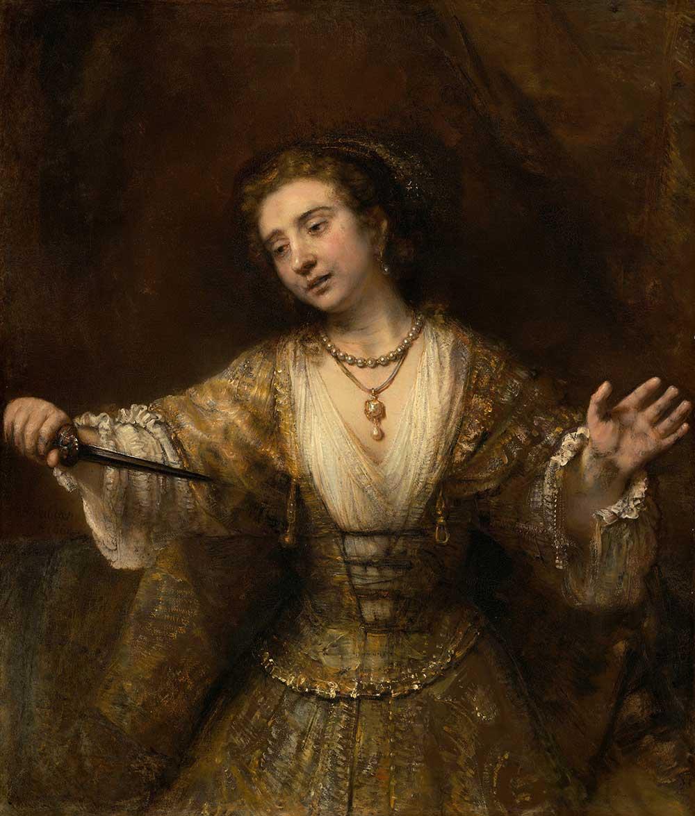Lucretia, by Rembrandt van Rijn, 1664.