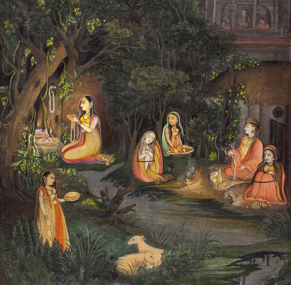 A Princess Visiting a Forest Shrine at Night (detail), attributed to Mir Kalan Khan, c. 1760. The Los Angeles County Museum of Art.