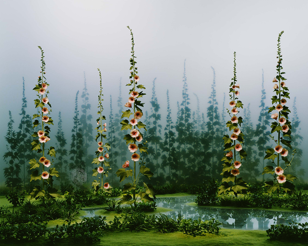 April Garden, by Didier Massard, 2009. Chromogenic print, 37¼ x 46¾ inches. © Didier Massard, courtesy the artist and Julie Saul Gallery, New York.