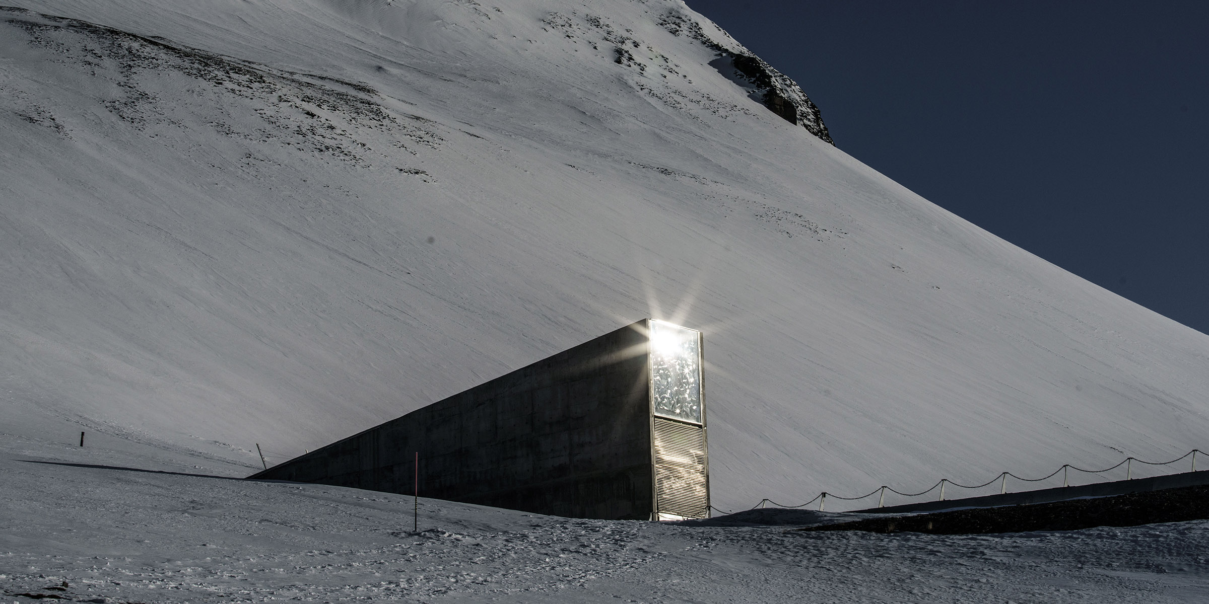 Entrance to the Svalbard Global Seed Vault, Norway, 2016. Photograph by Jonas Bendiksen. © Jonas Bendiksen/Magnum Photos.