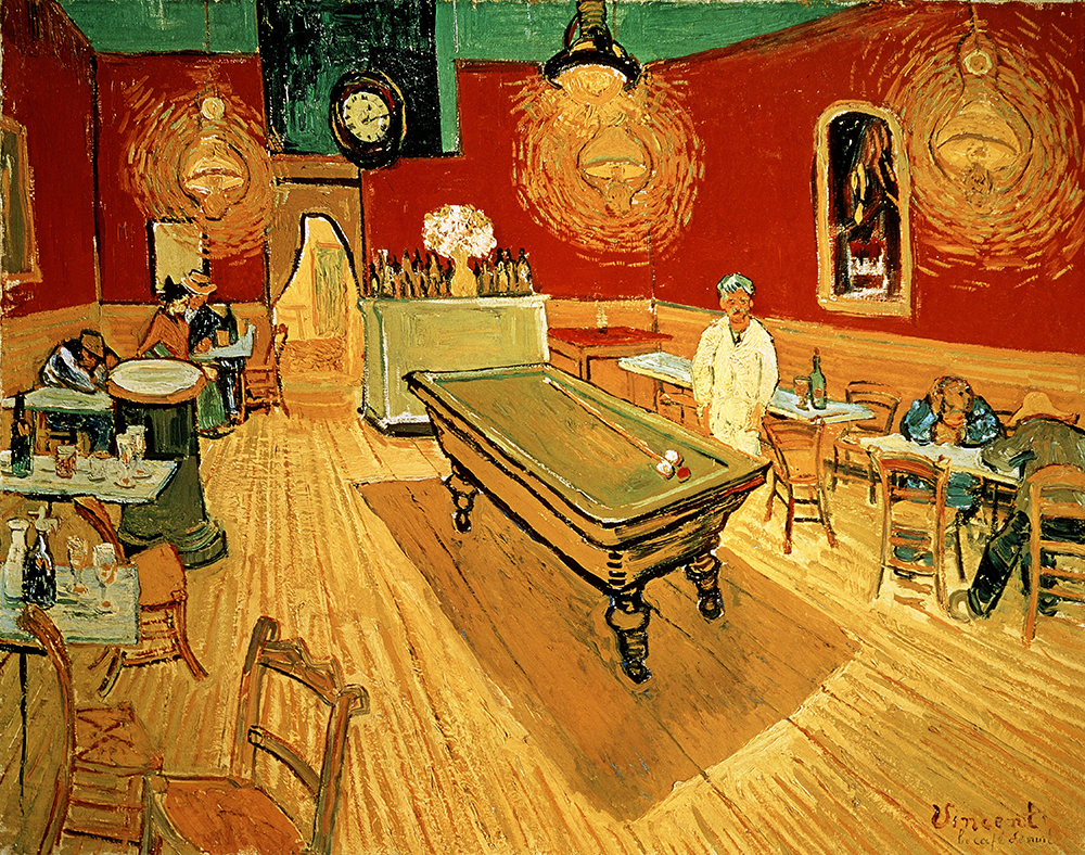 The Night Café, by Vincent van Gogh, 1888. © Album / Art Resource, NY.