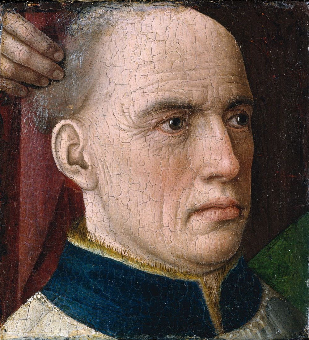 Head of a Donor, attributed to Albert van Ouwater, c. 1460. © The Metropolitan Museum of Art, Gift of J. Pierpont Morgan, 1917.