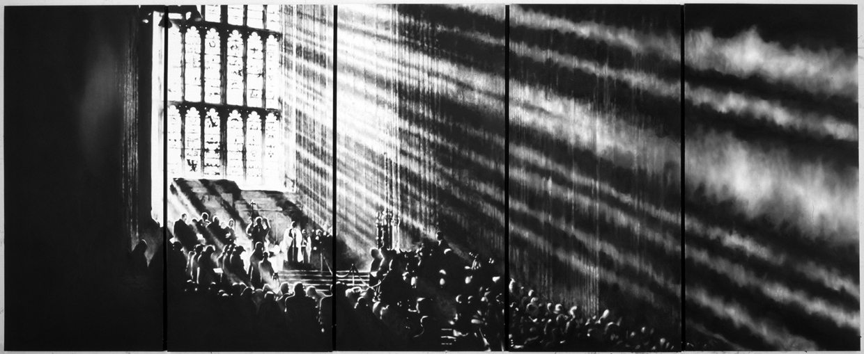 Untitled (Cathedral of Light), by Robert Longo, 2008