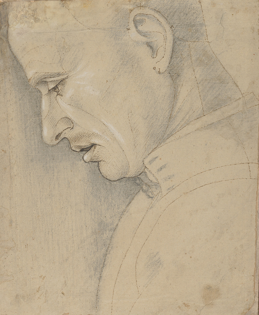 Head of a Man in Profile, by Luca Signorelli, c. 1495. © The Metropolitan Museum of Art, Robert Lehman Collection, 1975.