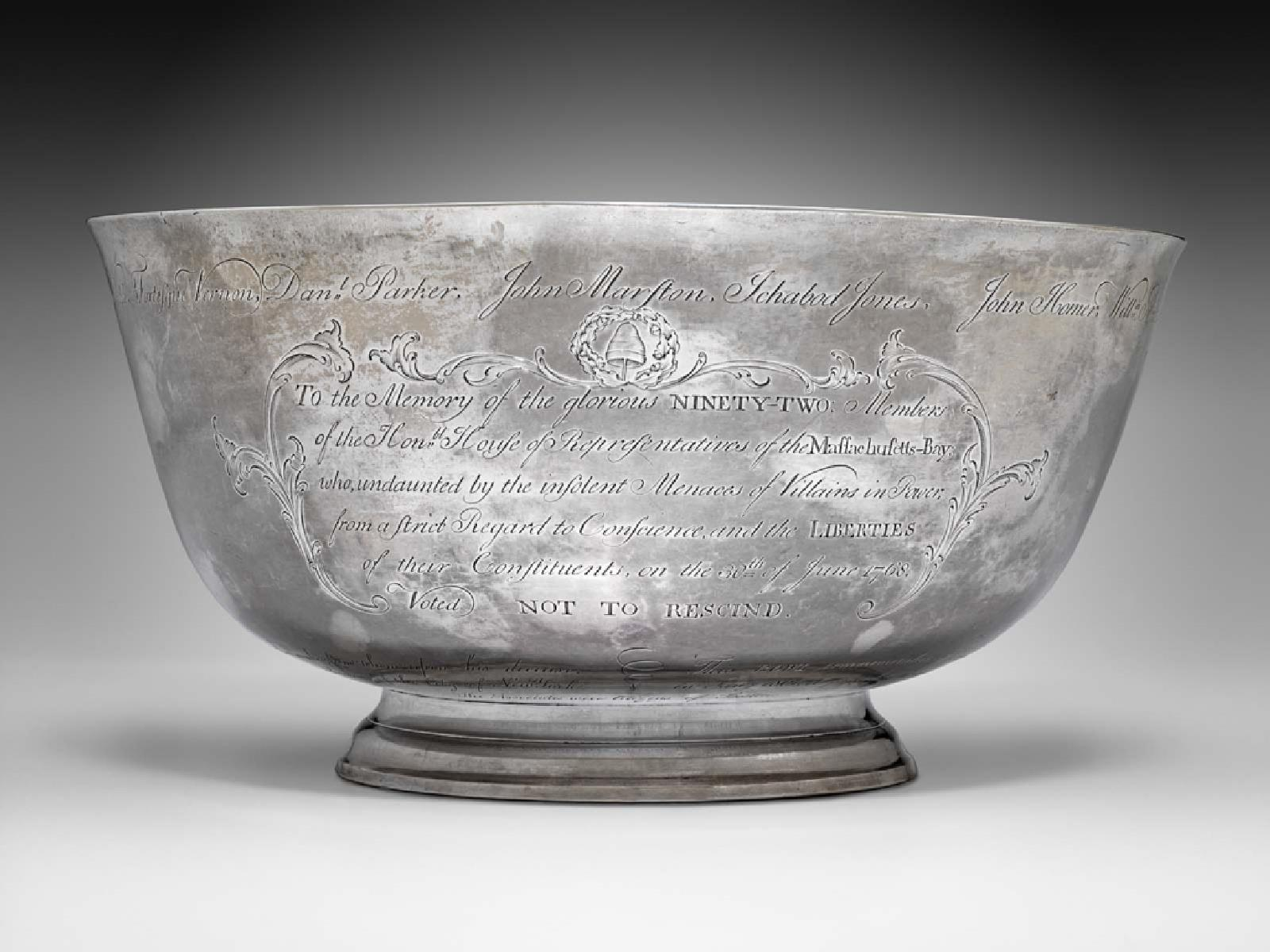 Sons of Liberty bowl, by Paul Revere, 1768.