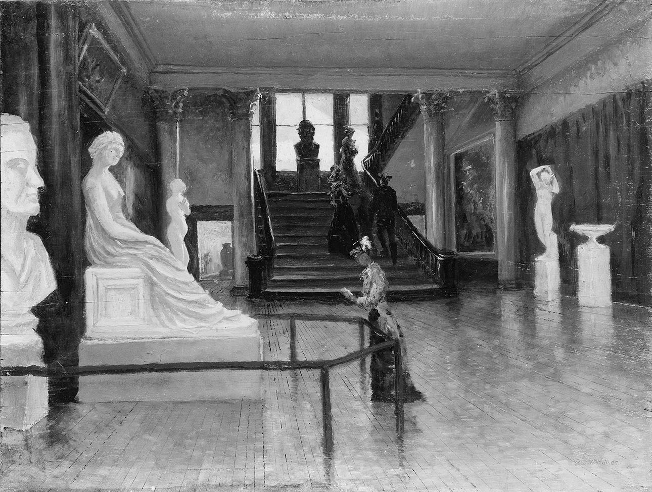 Entrance Hall of the Metropolitan Museum of Art when in Fourteenth Street | Frank Waller