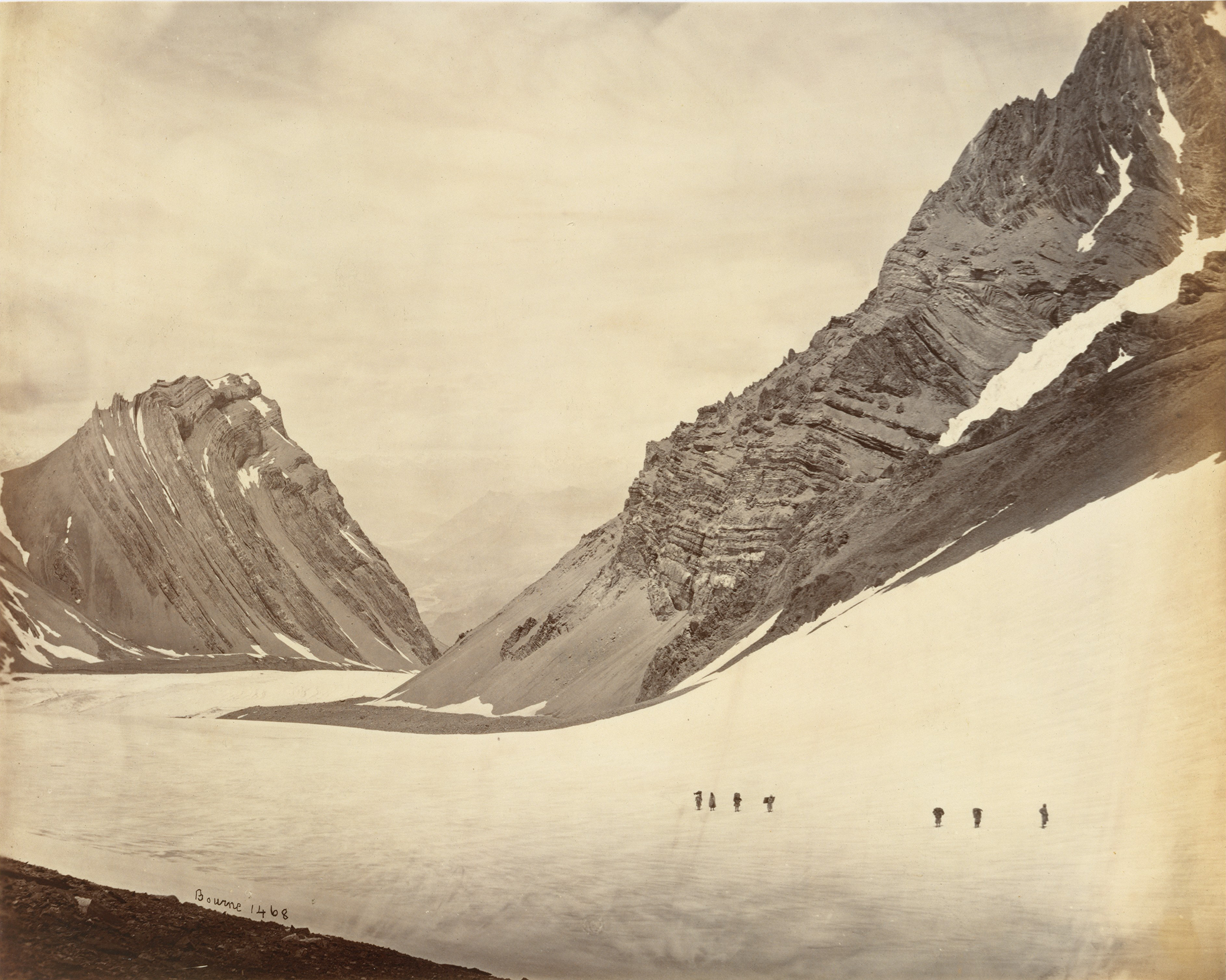 The Manirung Pass, by Samuel Bourne, 1860s. The Metropolitan Museum of Art, Gilman Collection, Purchase, Cynthia Hazen Polsky Gift, 2005.