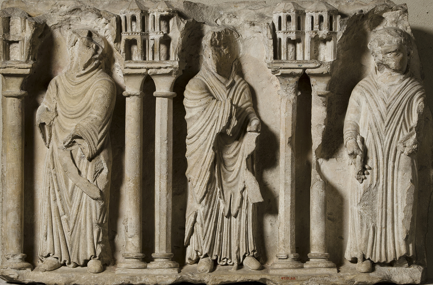 Relief Fragment with Three Monks.