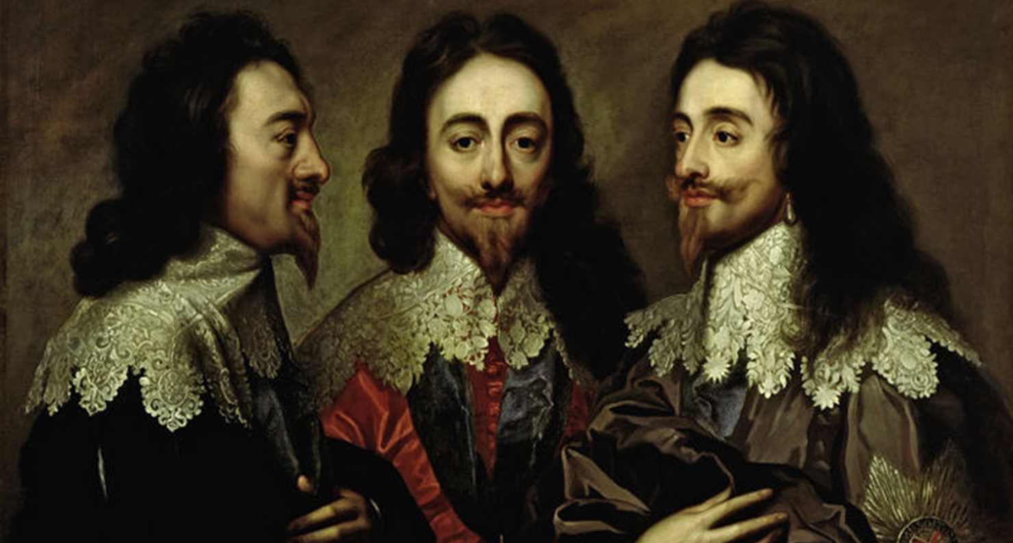 Charles I (detail), by Anthony van Dyck, c. 1750. Victoria & Albert Museum, bequeathed by John Jones.